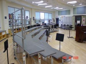 choir room w-risers